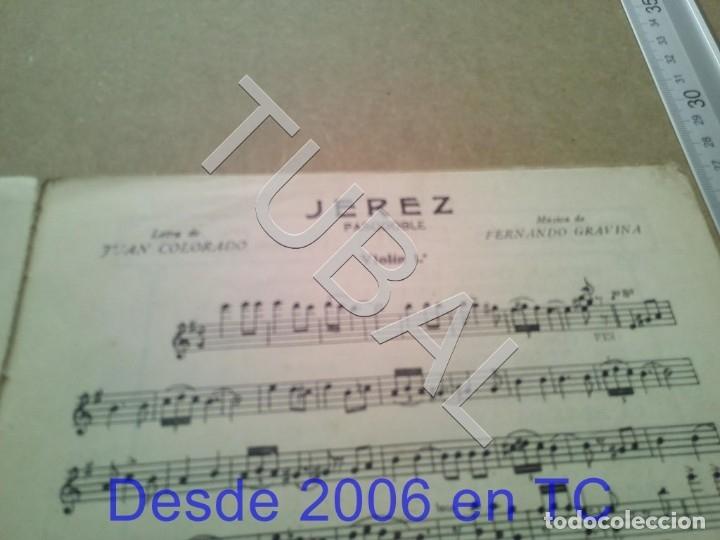 Partituras musicales: TUBAL PARTITURA ANTIGUA IJEREZ PASODOBLE GRAVINA 1929 P1 - Foto 3 - 179172951