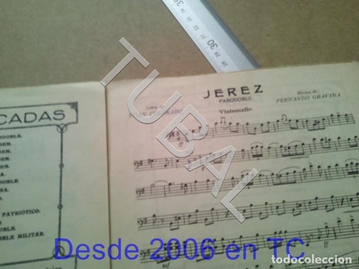 Partituras musicales: TUBAL PARTITURA ANTIGUA IJEREZ PASODOBLE GRAVINA 1929 P1 - Foto 4 - 179172951