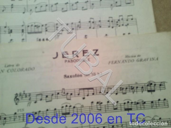 Partituras musicales: TUBAL PARTITURA ANTIGUA IJEREZ PASODOBLE GRAVINA 1929 P1 - Foto 6 - 179172951