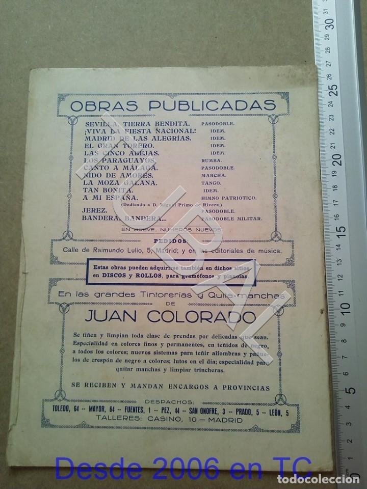 Partituras musicales: TUBAL PARTITURA ANTIGUA IJEREZ PASODOBLE GRAVINA 1929 P1 - Foto 8 - 179172951