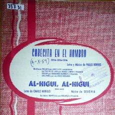 Partiture musicali: 35731 - PARTITURAS - 2 CANCIONES - CABECITA EN EL HOMBRO Y AL-HIGUI, AL-HIGUI - EDICIONES QUIROGA . Lote 179560915