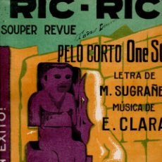 Partituras musicales: SUGRAÑES / CLARÁ : RIC RIC PELO CORTO (ALIER) ONE STEP. Lote 180996297