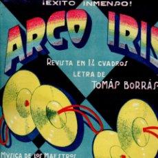 Partituras musicales: ARCO IRIS - CUPLET DE LOS PLATILLOS (ALIER). Lote 181028661