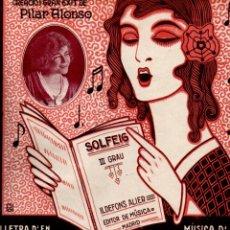 Partituras musicales: CASAMOZ / MONTERO Y AZNAR : LA SOLFEJADORA (ALIER). Lote 181028756