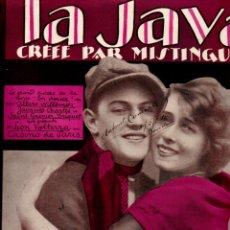Partituras musicales: MISTINGUETT : LA JAVA (SALABERT, 1922). Lote 181028900