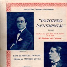 Partituras musicales: ROMERO Y JOVÉS : PATRIOTERO SENTIMENTAL - TANGO. Lote 181029675