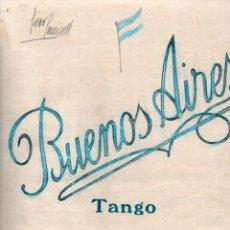 Partituras musicales: M. JOVÉS / M. ROMERO : BUENOS AIRES - TANGO. Lote 181029812