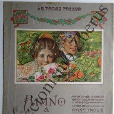 Partituras musicales: HIMNO A VALENCIA (REDUCCIÓN PARA PIANO) - LETRA: M.THOUS, MÚSICA: J.SERRANO (1929). Lote 42724397