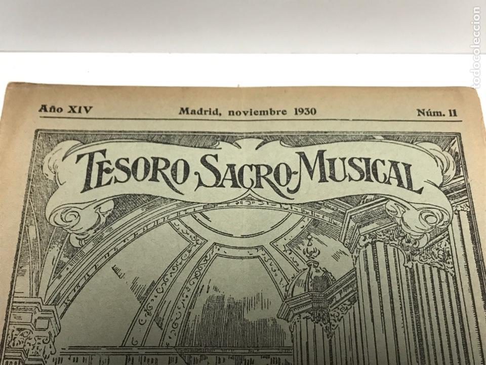 Partituras musicales: TESORO SACRO MUSICAL 1930 - Foto 2 - 181944157
