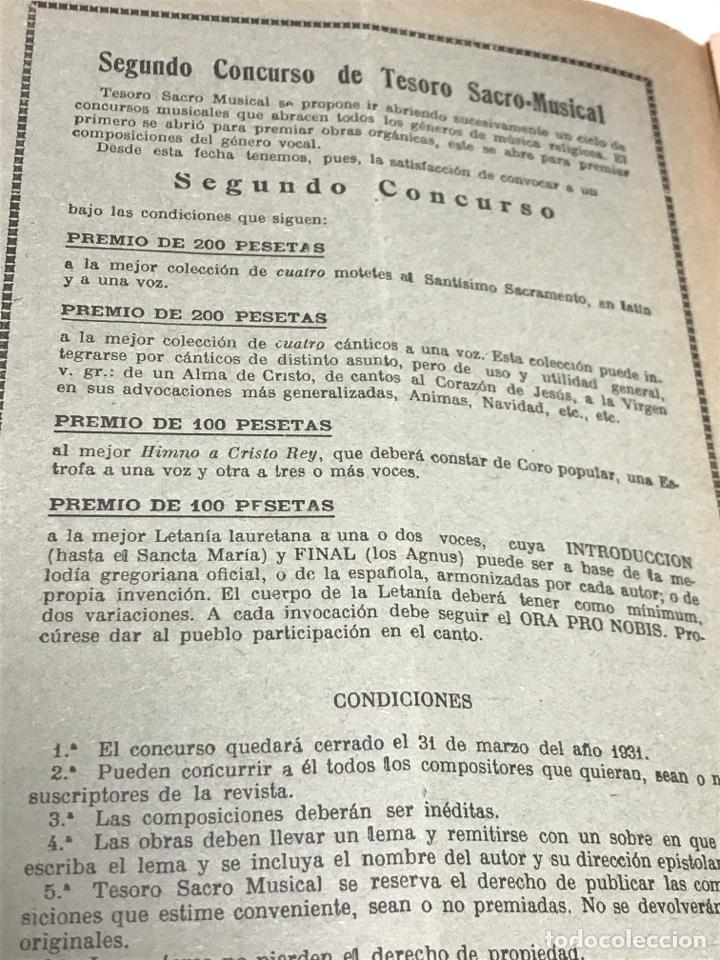 Partituras musicales: TESORO SACRO MUSICAL 1930 - Foto 4 - 181944157