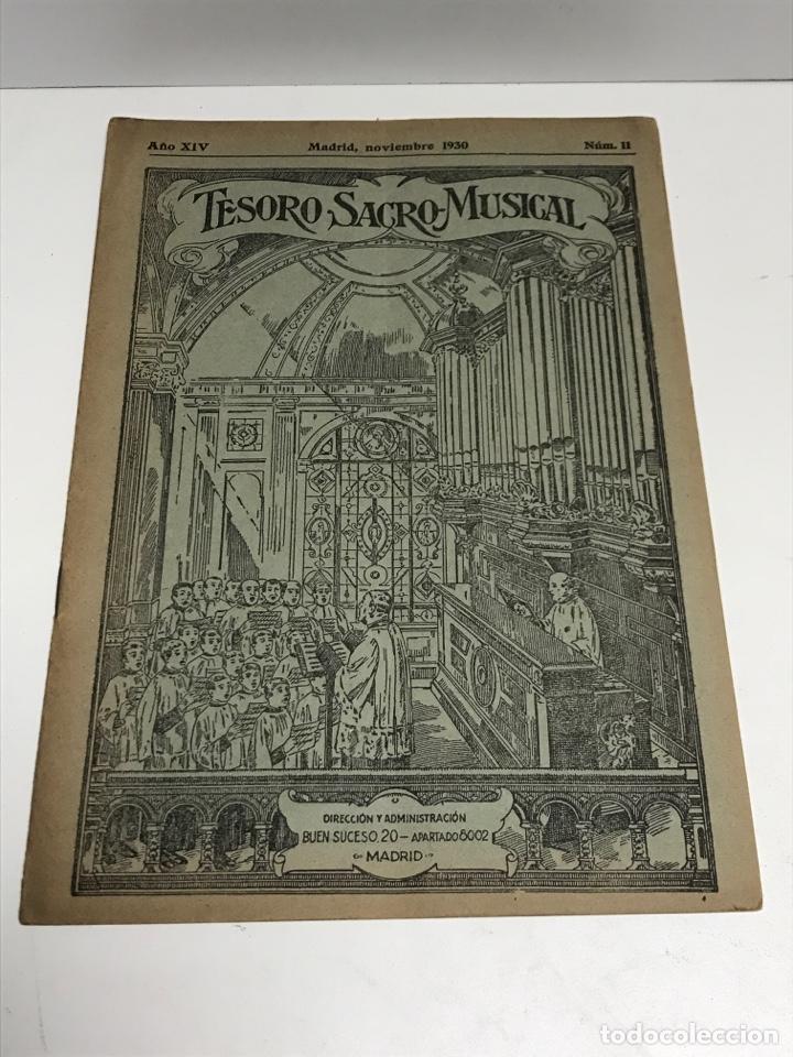 TESORO SACRO MUSICAL 1930 (Música - Partituras Musicales Antiguas)