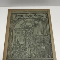 Partituras musicales: TESORO SACRO MUSICAL 1930. Lote 181944157
