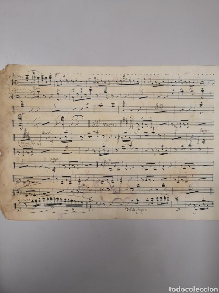 Partituras musicales: PARTITURA - LOTE DE 6 PARTITURAS MANUSCRITAS - EL REY DE LA BANCA - MAESTRO SERRANO - 1914 - - Foto 5 - 182209350