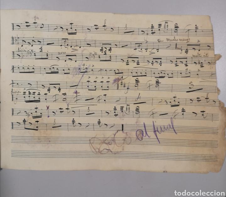 Partituras musicales: PARTITURA - LOTE DE 6 PARTITURAS MANUSCRITAS - EL REY DE LA BANCA - MAESTRO SERRANO - 1914 - - Foto 6 - 182209350