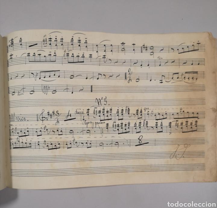 Partituras musicales: PARTITURA - LOTE DE 6 PARTITURAS MANUSCRITAS - EL REY DE LA BANCA - MAESTRO SERRANO - 1914 - - Foto 8 - 182209350