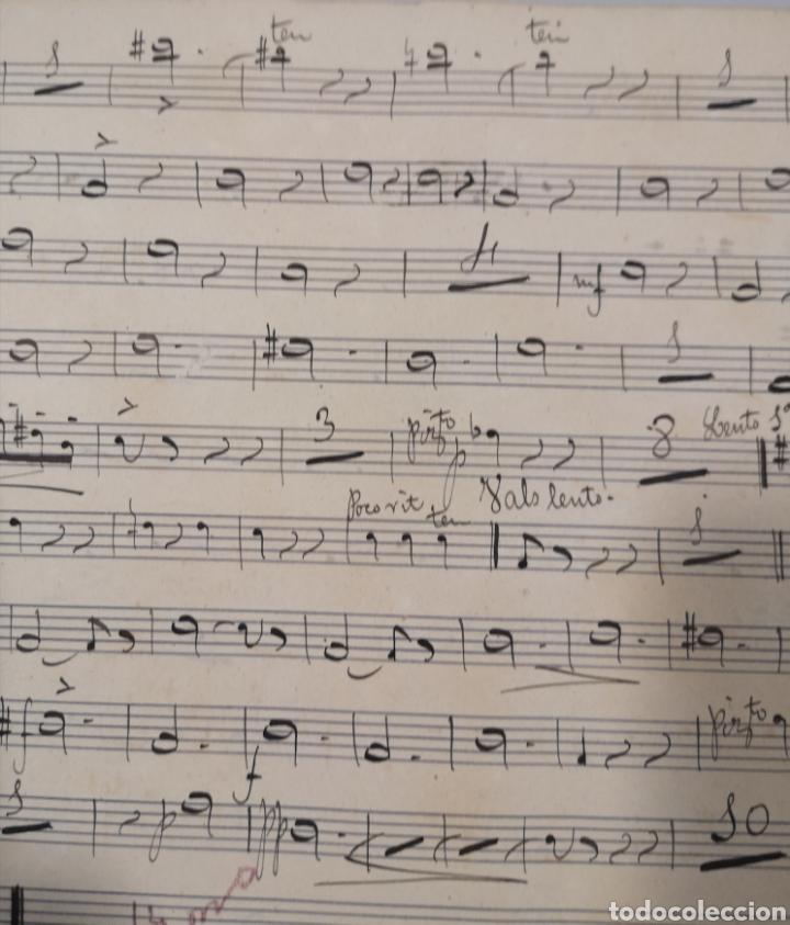 Partituras musicales: PARTITURA - LOTE DE 6 PARTITURAS MANUSCRITAS - EL REY DE LA BANCA - MAESTRO SERRANO - 1914 - - Foto 10 - 182209350