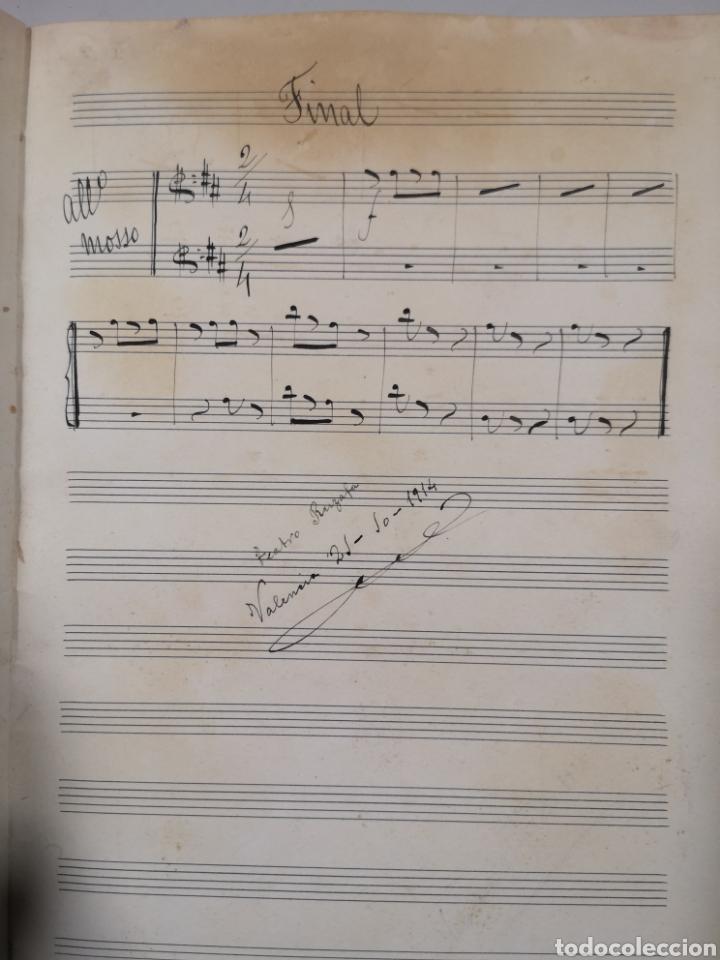 Partituras musicales: PARTITURA - LOTE DE 6 PARTITURAS MANUSCRITAS - EL REY DE LA BANCA - MAESTRO SERRANO - 1914 - - Foto 12 - 182209350