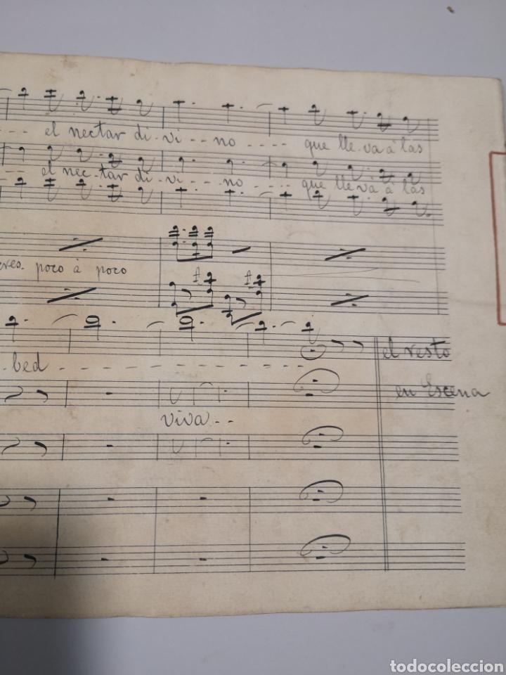 Partituras musicales: PARTITURA - LOTE DE 6 PARTITURAS MANUSCRITAS - EL REY DE LA BANCA - MAESTRO SERRANO - 1914 - - Foto 14 - 182209350