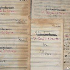 Partituras musicales: PARTITURA - LOTE DE 6 PARTITURAS MANUSCRITAS - EL REY DE LA BANCA - MAESTRO SERRANO - 1914 -. Lote 182209350