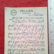 Partituras musicales: TUBAL ZELUAN PASODOBLE ENRIQUE CANONGE PARTITURA 1932 P2. Lote 182388152