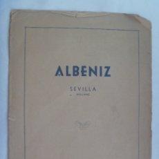 Partituras musicales: PARTITURA DE SEVILLA, SEVILLANAS DE ALBENIZ. COPYRIGHT 1918. Lote 182615585
