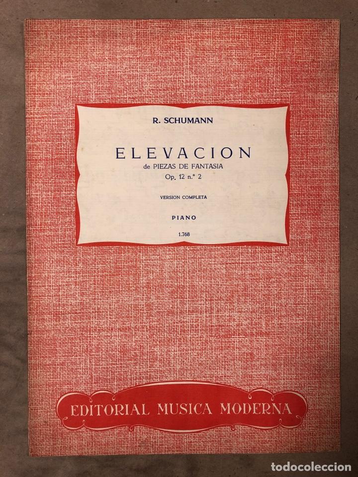 R. SCHUMANN, ELEVACIÓN DE PIEZAS DE FANTASÍA OP. 12 N° 2 VERSIÓN COMPLETA PIANO. (Música - Partituras Musicales Antiguas)