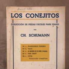 Partituras musicales: LOS CONEJITOS. COLECCIÓN DE PIEZAS FÁCILES PARA PIANO POR CH. SCHUMANN. 1921.. Lote 182891683