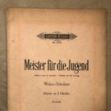 Partituras musicales: MEISTER FÜR DIE JUGEND. ADOLF RUTHARDT. C. F. PETERS (LEIPZIG).. Lote 182904557