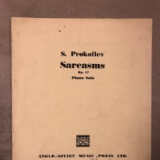Partituras musicales: S. PROKOFIEV SARCASMS OP. 17 PIANO SOLO. ANGLO SOVIET MUSIC PRESS LTD.. Lote 182909262