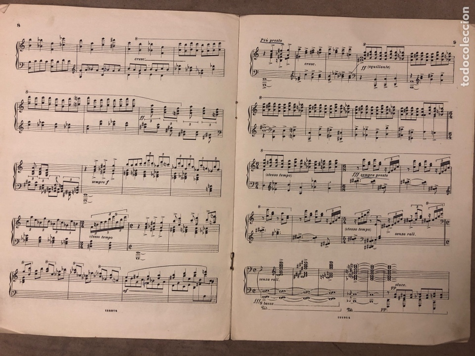 Partituras musicales: GOFFREDO PETRASSI, TOCCATA PER PIANOFORTE. RICORDI 1934. - Foto 3 - 182910670