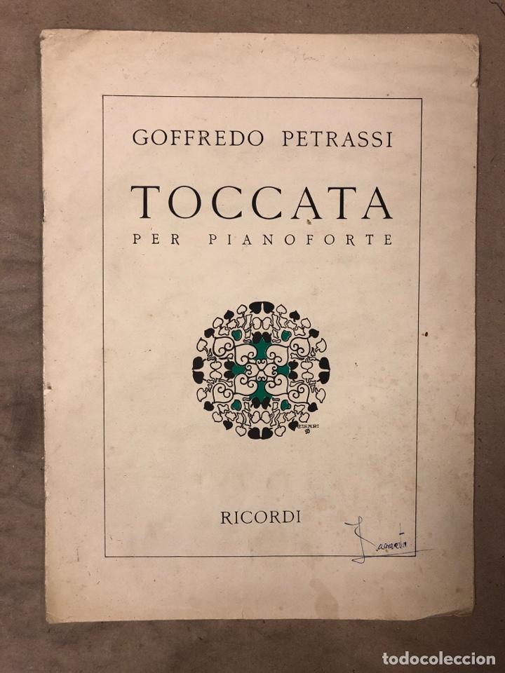 GOFFREDO PETRASSI, TOCCATA PER PIANOFORTE. RICORDI 1934. (Música - Partituras Musicales Antiguas)