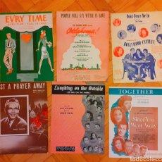 Partituras musicales: COLECCIÓN DE 6 PARTITURAS DE MÚSICA DE PELÍCULAS, BROADWAY HOLLYWOOD ANTIGUAS. NUEVA YORK AÑOS 40. Lote 183188802