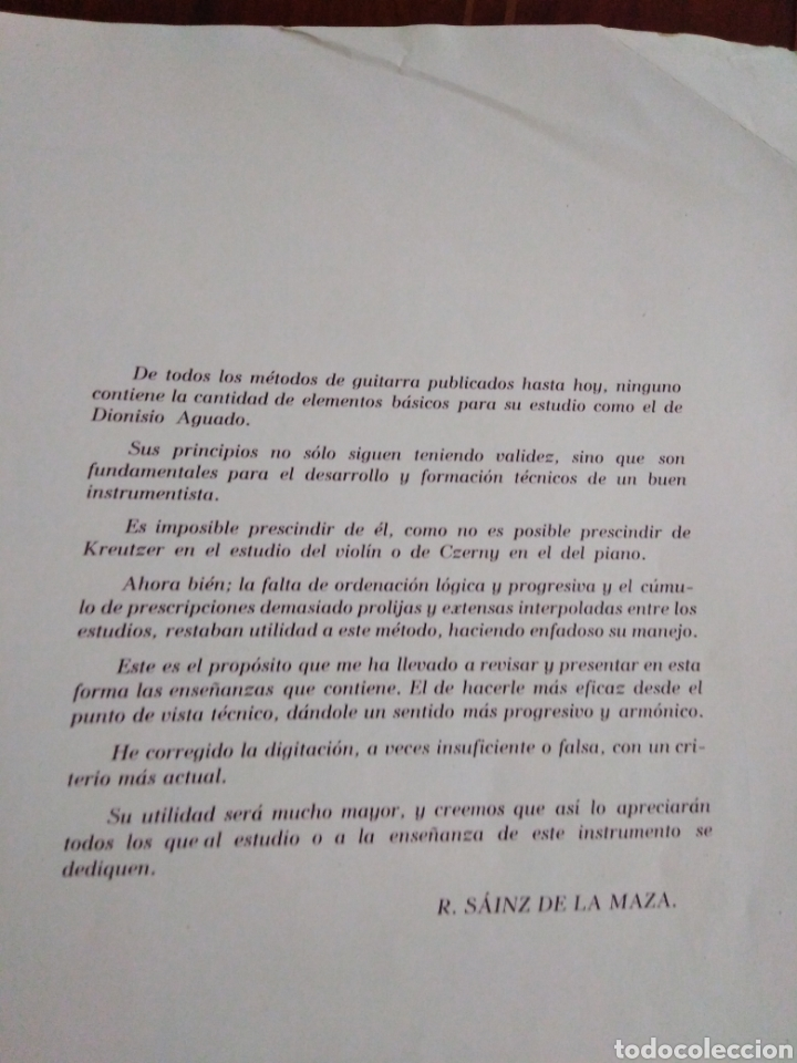 Partituras musicales: Metodo de guitarra R. Sainz de la maza - Foto 2 - 183913631