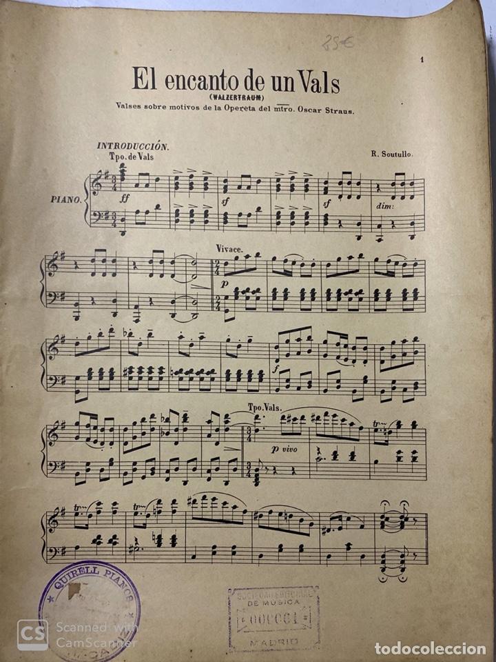 Partituras musicales: EL SUEÑO DE UN VALS. OPERA AUSTRIACA. MUSICA DE OSCAR STRAUS. ILDEFONSO ALIER EDITOR.MADRID.PAGS 8 - Foto 2 - 184099861