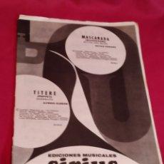 Partituras musicales: LIBRETO PARTITURAS EDICIONES MUSICALES SIRIUS - 1970. Lote 184354468