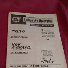Partituras musicales: LIBRETO PARTITURAS EDICIONES MUSICALES LA VOZ DE AMERICA - 1971. Lote 184354540