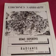 Partituras musicales: LIBRETO PARTITURAS EDICIONES SARIBIARTE - 1969. Lote 184360351