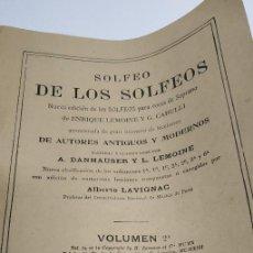 Partituras musicales: SOLFEO DE LOS SOLFEOS -- ENRIQUE LEMOINE Y G. CARULLI -- 1913. Lote 184509292