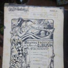 Partituras musicales: EL BUFÓN. REVISTA MUSICAL. Nº 23. PÁGINAS MUSICALES DE LA. AÑOS 10.. Lote 186011236