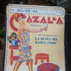 Partituras musicales: CAZALLA. TANGO. LA REINA DEL BARRIO CHINO. R. ADAM. DO-RE-MI. MÚSICA POPULAR MODERNA Nº 98. REVISTA. Lote 186011850