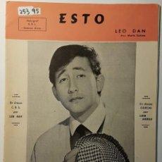 Partituras musicales: PARTITURA DE LUIS AGUILÉ. ESTO Y MARIONETAS. Lote 186360706