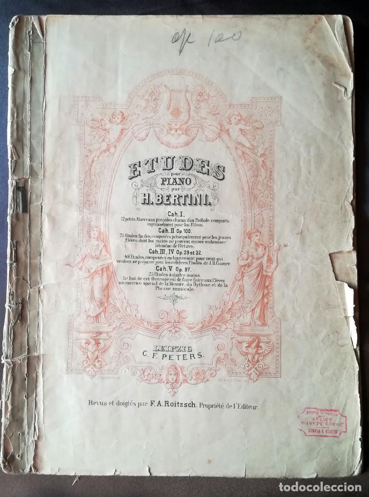 25 ETUDES POUR PIANO H. BERTINI, C. F. PETERS, LEIPZIG (Música - Partituras Musicales Antiguas)