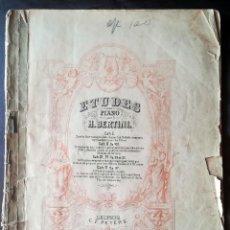 Partituras musicales: 25 ETUDES POUR PIANO H. BERTINI, C. F. PETERS, LEIPZIG . Lote 188497538
