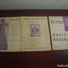Partituras musicales: ANTIGUA PARTITURA - MARIA MAGDALENA - MAESTRO QUIROGA- TRIPTICO- VER DETALLES. Lote 189125138