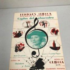 Partituras musicales: EDICIONES QUIROGA - CONCHITA PIQUER. Lote 190404782