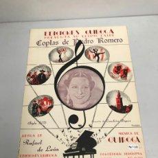Partituras musicales: EDICIONES QUIROGA - CONCHITA PIQUER . Lote 190404797