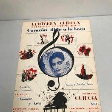 Partituras musicales: EDICIONES QUIROGA - JUANITA REINA . Lote 190404835