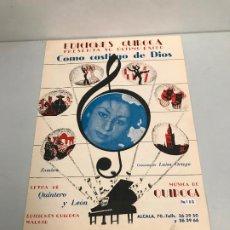 Partituras musicales: EDICIONES QUIROGA - LUISA ORTEGA . Lote 190404923