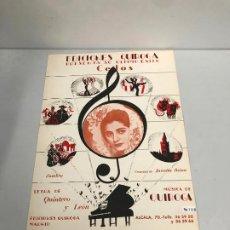 Partituras musicales: EDICIONES QUIROGA - JUANITA REINA. Lote 190404963