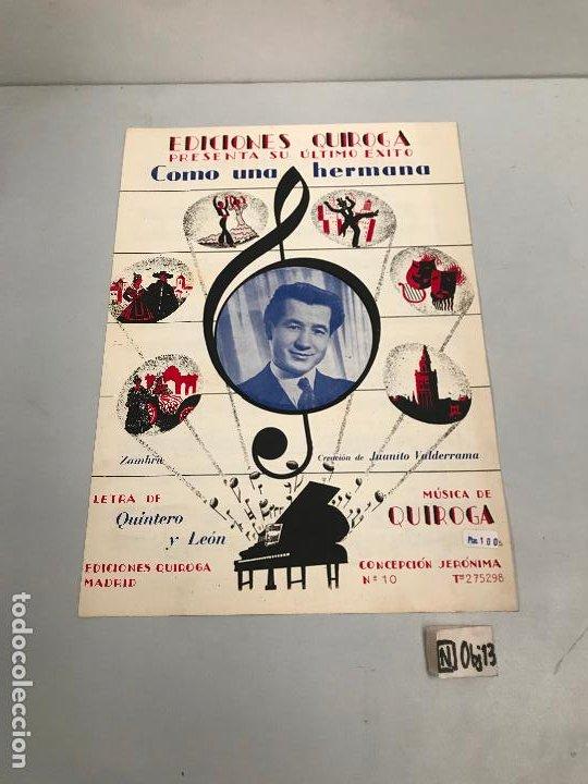 EDICIONES QUIROGA - JUANITO VALDERRAMA (Música - Partituras Musicales Antiguas)